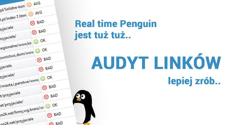 Audyt linków Real time Penguin